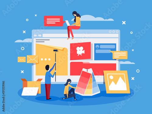 Fotografia Creation of web design for site