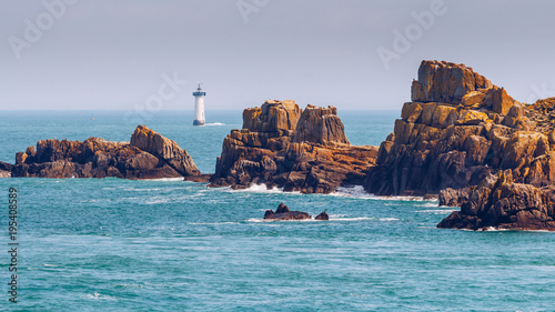 Canvas Print Pointe du Grouin in Cancale, France, Brittany, Europe