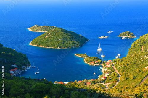 Island Mljet in Croatia, view to Prozurska luka