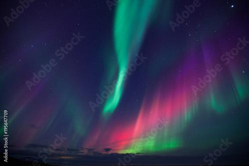 Islanda, aurora boreale Fototapet
