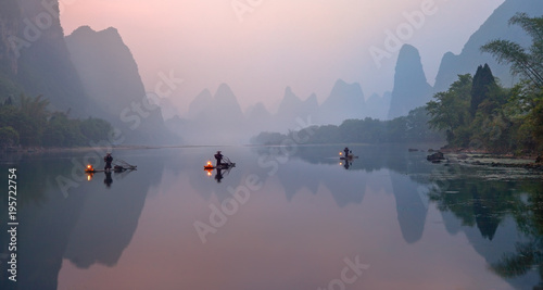 Fotografie, Obraz The Li River, Xingping, China, scenic landscape