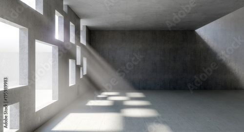 abstract concrete indoor