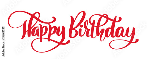 Canvas Print Happy Birthday Hand drawn text phrase