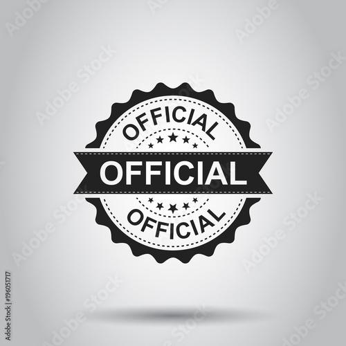 Fotografia, Obraz Official grunge rubber stamp