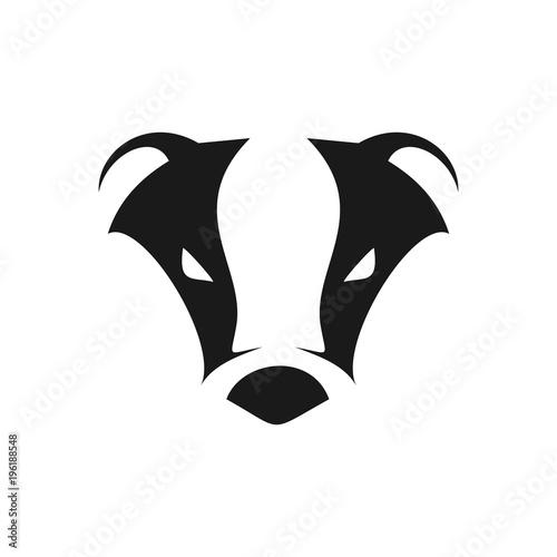 Fotografía Abstract Cool Badger Head Symbol Logo Design