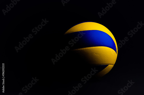 volleyball ball isolated on black background.