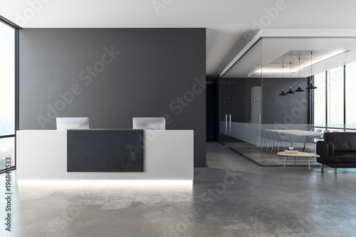 Wallpaper Mural Contemporary reception with copy space