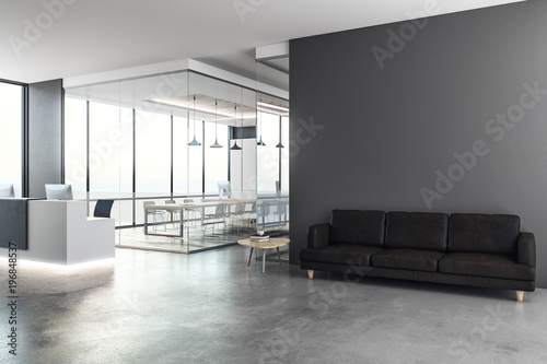 Canvas Print Modern reception with copy space