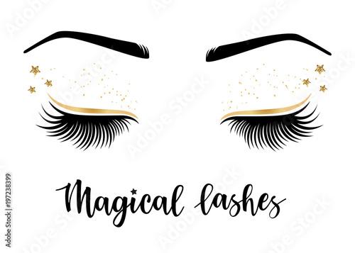 Carta da parati Vector illustration of lashes