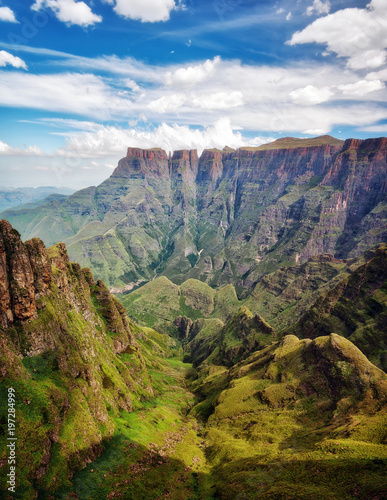 Drakensberg Amphitheatre in South Africa Wall mural