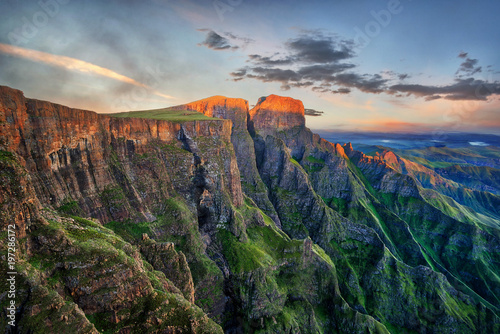 Canvas Print Drakensberg Amphitheatre in South Africa