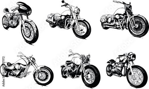 Vászonkép Vintage Custom Motorcicle Graphic Poster Illustration.