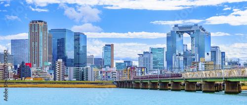 Fototapeta premium Osaka Kamogawa pejzaż miejski