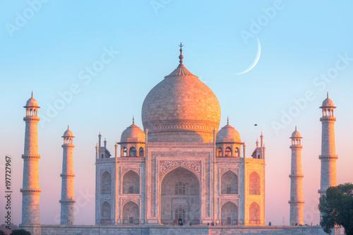 Obraz na plátně Taj Mahal at sunset - Agra, India