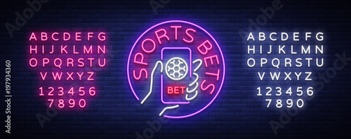 Stampa su Tela Sports betting is a neon sign