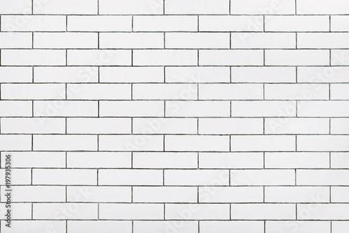 Fototapeta White ceramic tile wall background
