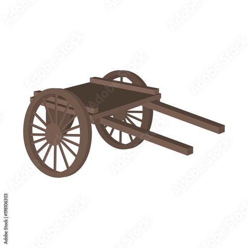 Fotografía handcart transportation delivery service equipment