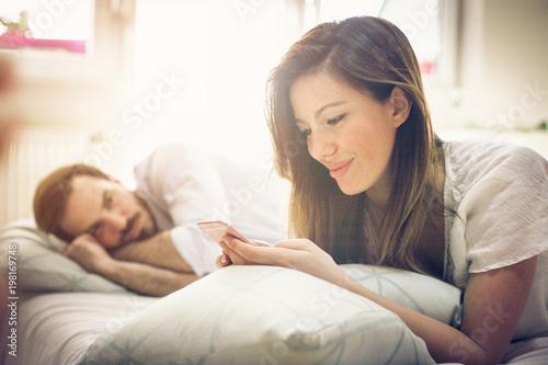 Jealous husband. Fototapeta
