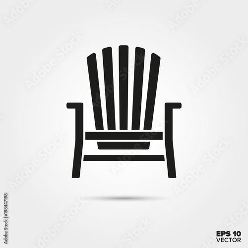 Adirondack deck chair vector icon Tapéta, Fotótapéta