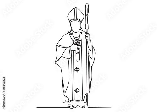 Obraz na płótnie Catholic priest