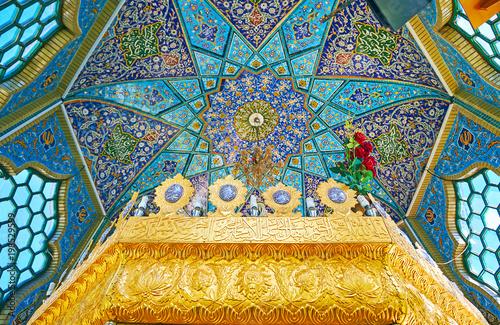Obraz na plátne Dome in Shrine of Rayen, Iran