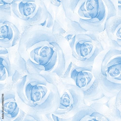 Folia na okno łazienkowe w niebieskie róże