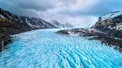 Fotografia Skaftafell glacier, Vatnajokull National Park in Iceland.