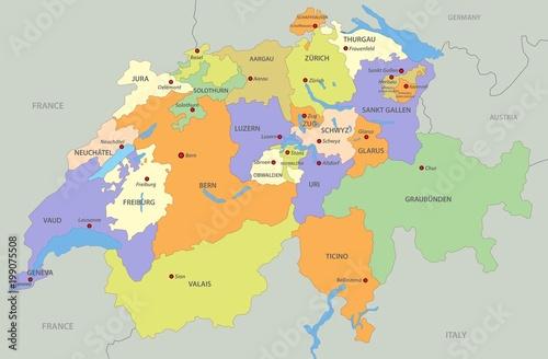 Photo Map of Switzerland