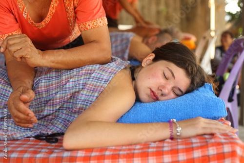 Massage teenager Photos show