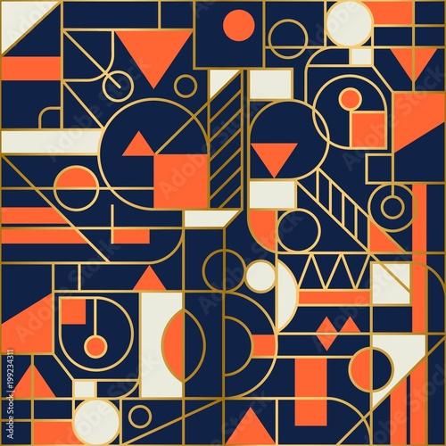 Retro geometric abstract Seamless background design. Modern pattern.