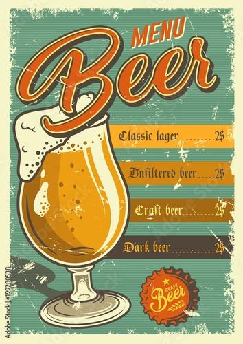 Vintage pub poster design.