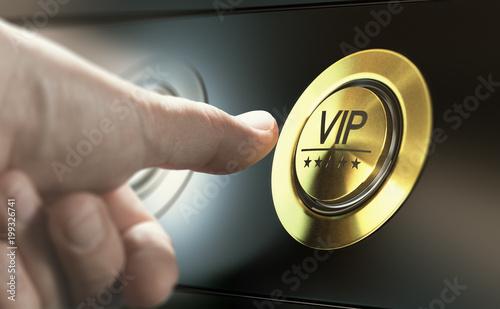 Fotografie, Obraz VIP Access. Asking for Premium Services