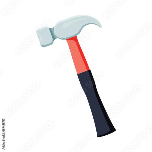 Carta da parati Carpenter hammer tool icon. Vector illustration in flat style