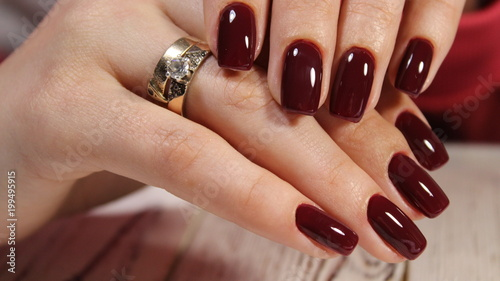 Canvas Print beautiful red nails