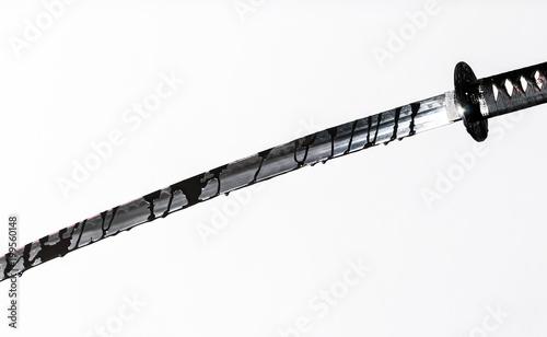 Canvas Print Sharp Katana Sword Blade