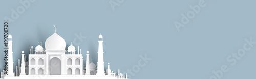 Fotografia blank mosque text background, modern elegant islamic design