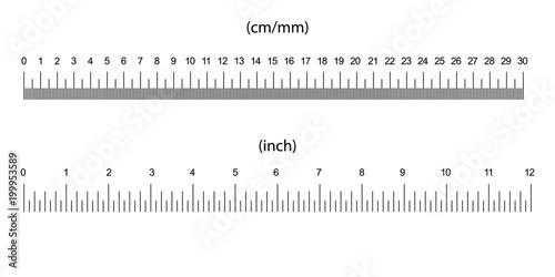 Photo ruler size indicators