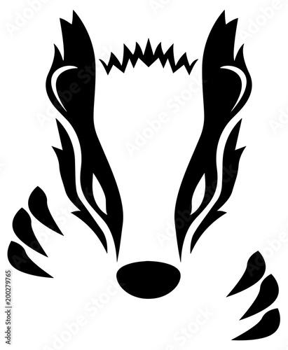 Fotografie, Tablou Badger Isolated Vector Illustration