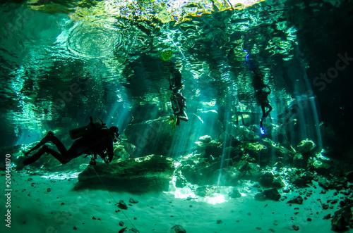 Canvas Print Yucatan cenotes, Mexico.