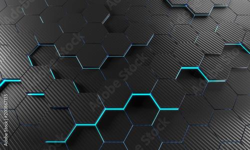Leinwand Poster carbon fiber background