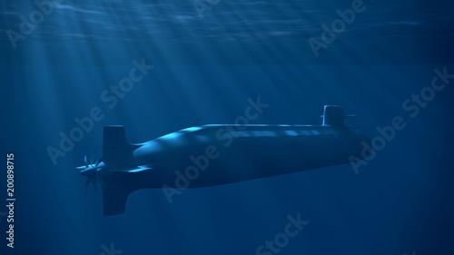 Canvas Print Nuclear Submarine