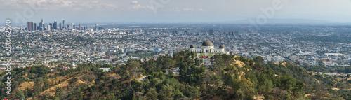 Obraz na płótnie Los Angeles Panorama aus Sicht der Hollywood Hills, Griffith Observatory