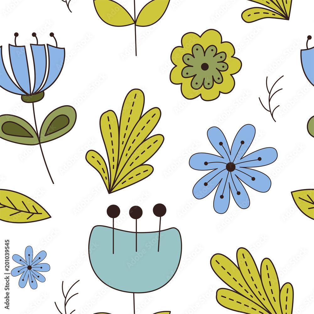 Las bez szwu pattering w stylu cartoon. Zwierzęta leśne. Ilustracji wektorowych <span>plik: #201039545 | autor: astarte7893</span>