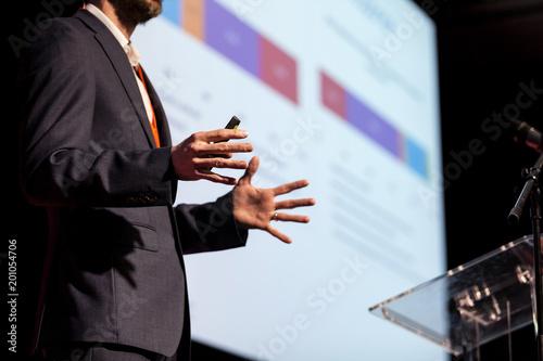 Canvas Print Speaker at business conference or presentation
