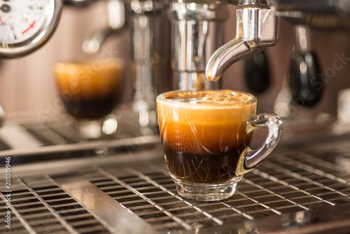 Obraz na płótnie Perfect shot of espresso coffee.
