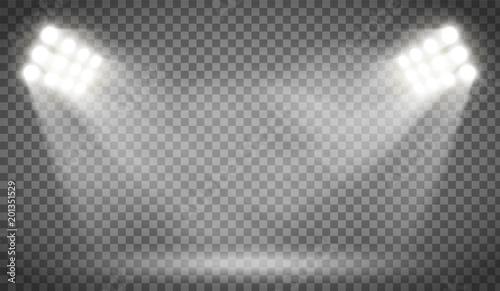 Foto Searchlight illuminates the blank backdrop