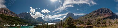 Fotografie, Obraz Panoramic view of East Glacier National Park