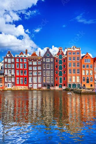 Fototapeta premium Domy w Amsterdamie