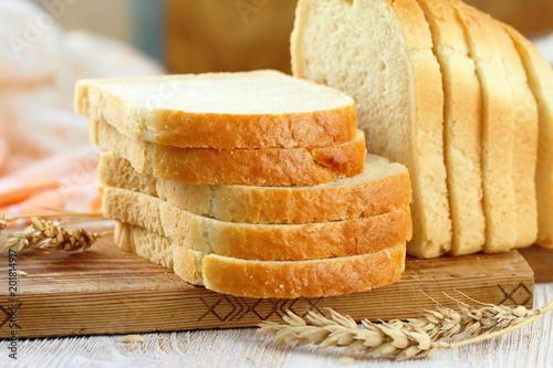 Fotografía Sliced white bread