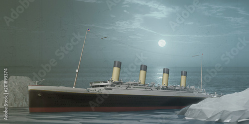Photo old ocean liner